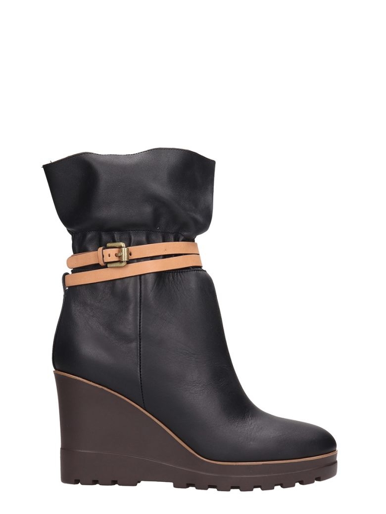 KELVIN WEDGE ANKLE BOOTS