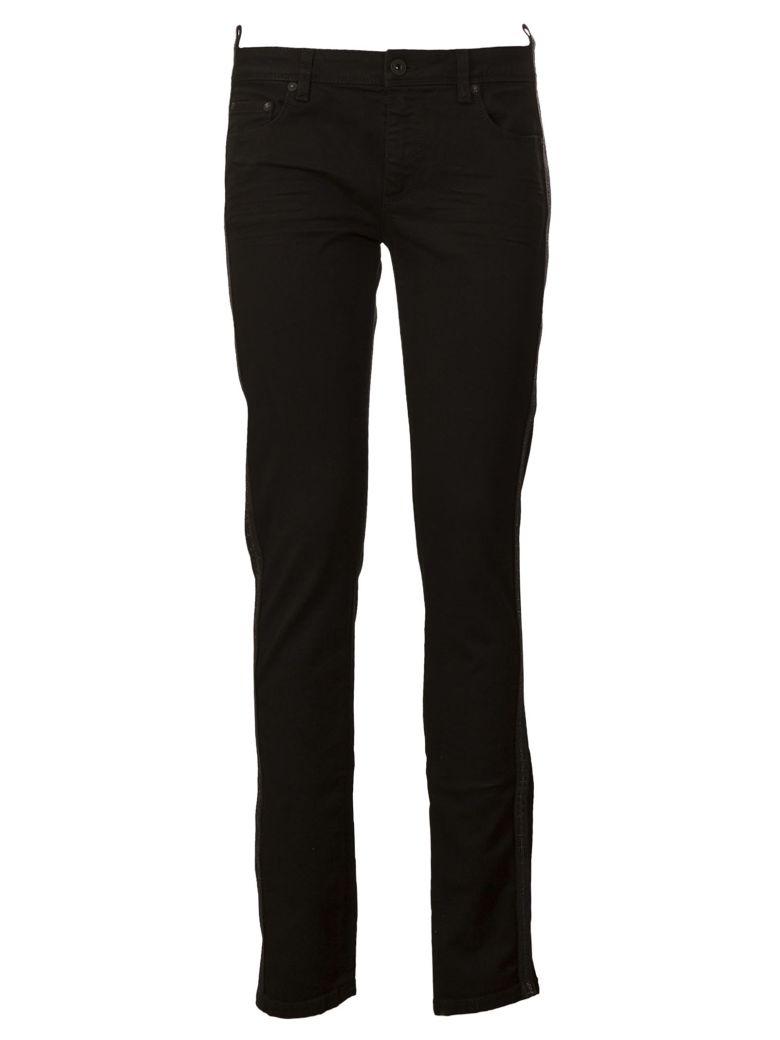 Off White Slim-Fit Jeans, Black