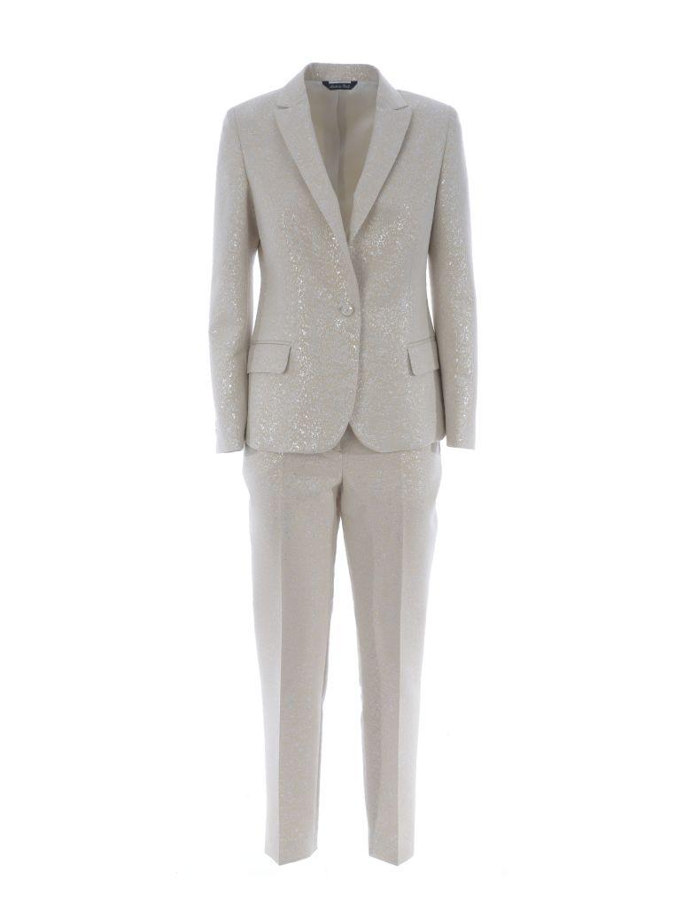 BRIAN DALES Classic Suit in Avorio/Argento
