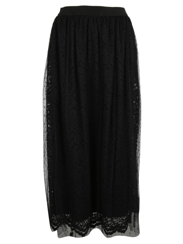 ERMANNO ERMANNO SCERVINO Double Layered Lace Skirt in Black