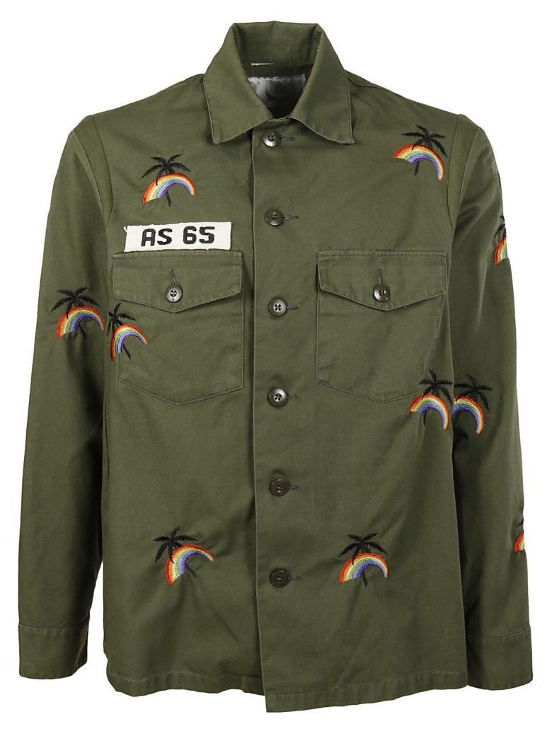 AS65 rainbow embroidered shirt