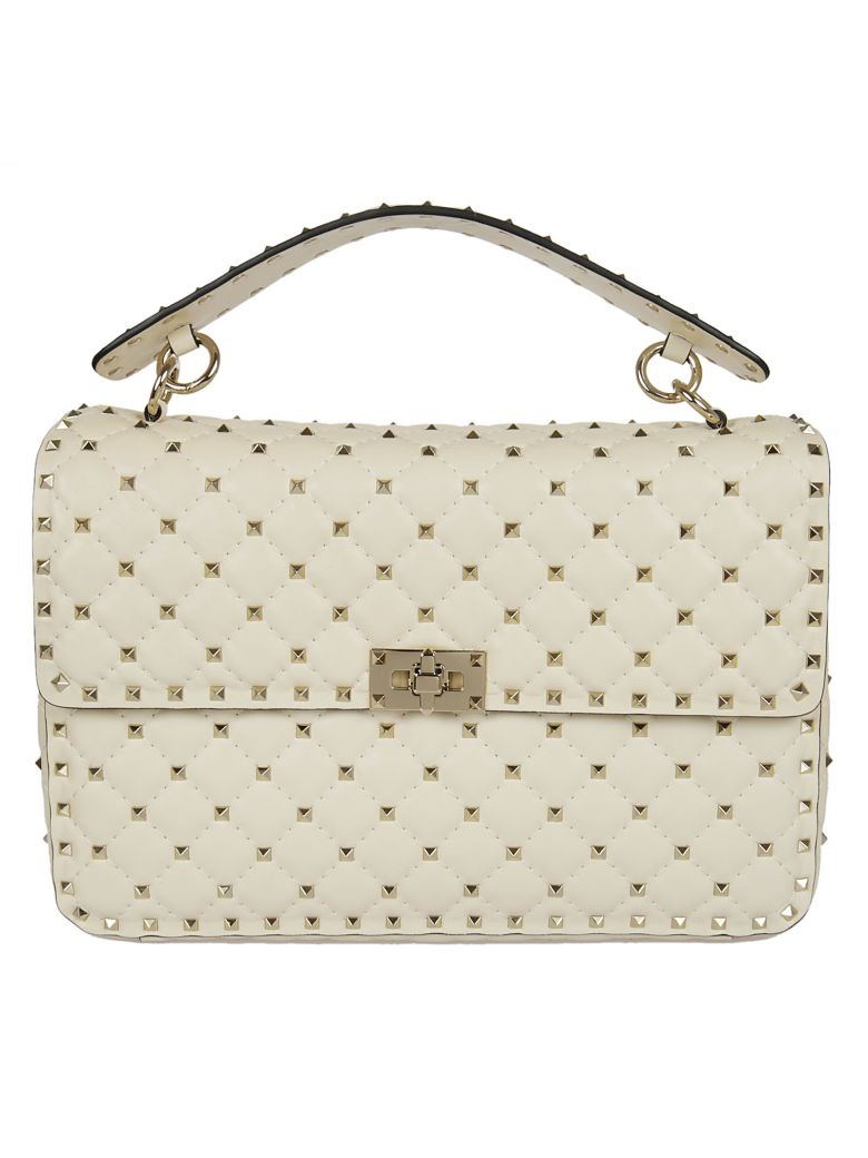 QUILTED STUDDED TOTE