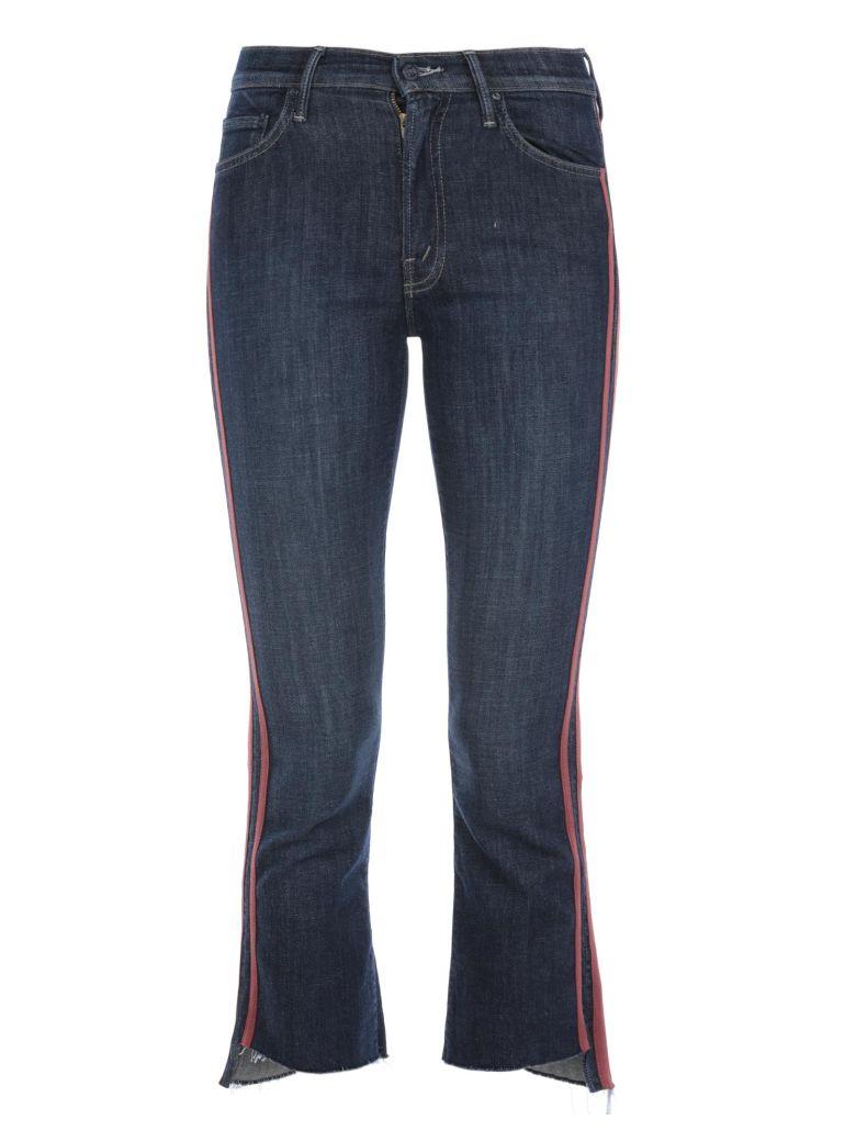 Mother Insider Crop Step Fray Jeans - BLUE