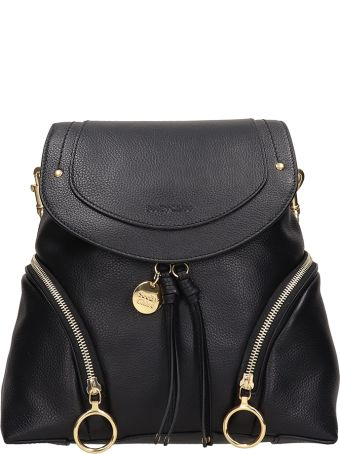 See by Chloé Black Leather Backpack
