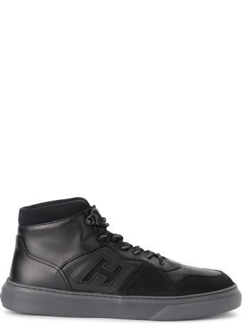 Hogan H365 Basket Black Leather Sneaker
