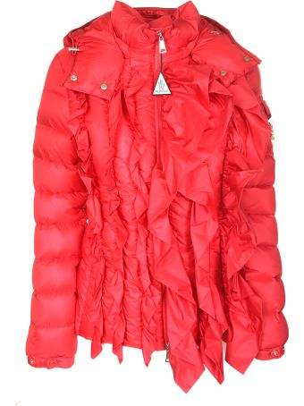 moncler red padded jacket