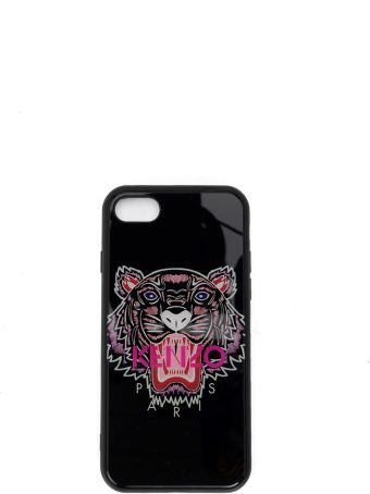 Kenzo I-phone7 And I-phone8 Black Cover With Tiger