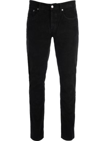 Department 5 Keith Black Corduroy Velvet Trousers