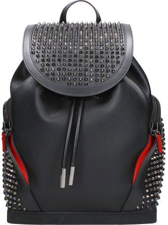 Christian Louboutin Explorafunk Black Leather Backpack