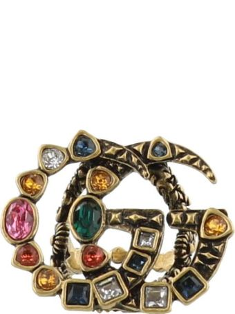 Gucci Double G And Crystals Ring