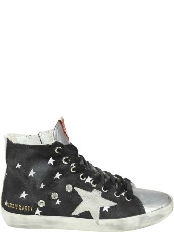 """Golden Goose Sneakers """"francy"""" In Jeans Effect Fabric Color Blue Petroleum"""