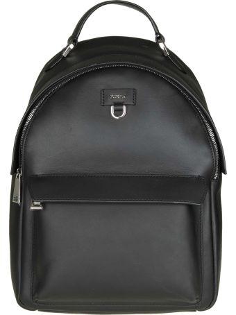 "Furla ""favola S"" Backpack In Black Color Leather"