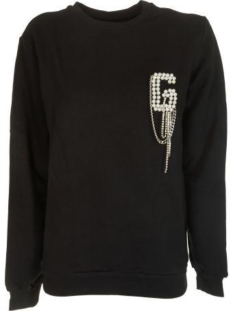 Gaelle Bonheur Logo Embellished Sweatshirt