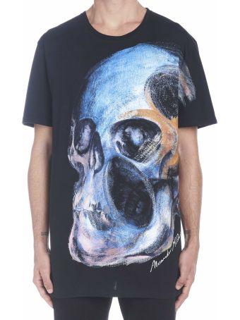 Alexander McQueen 'painted Skull' T-shirt