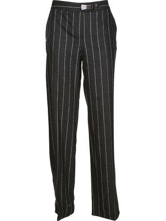 Giorgio Armani Straight Leg Striped Trousers