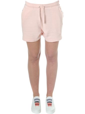 Faith Connexion Pink Cotton Track Shorts With Logo
