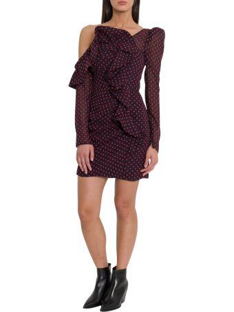 self-portrait Plumetis Short Dress With Frills