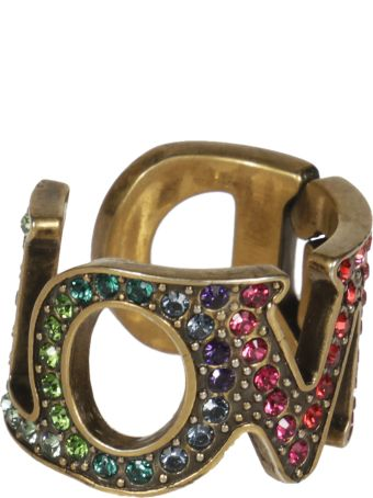Gucci Loved Embellished Ring