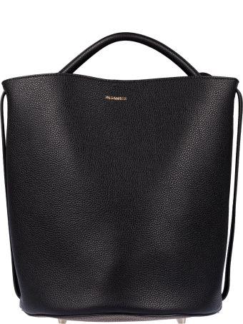Jil Sander Logo Plaque Bucket Bag