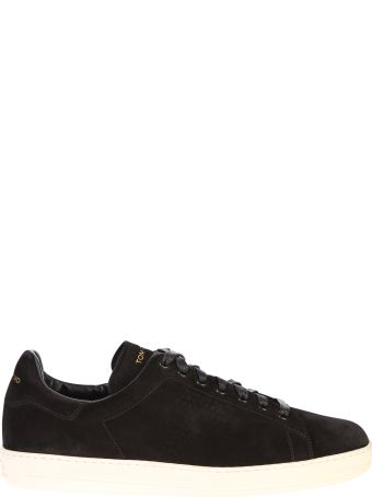 Tom Ford Black Lace Up Sneakers
