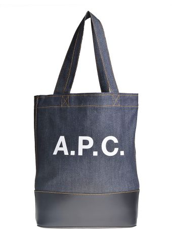 A.P.C. Printed Logo Shopper Bag
