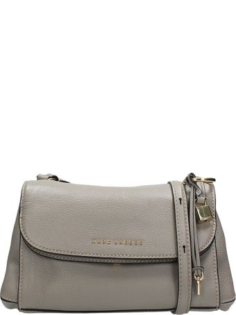 Marc Jacobs Boho Grind Bag In Gray Leather