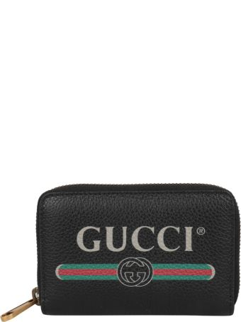 Gucci Gucci Print Leather Card Holder