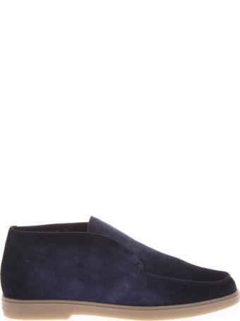 Santoni Blue Suede Desert Boots