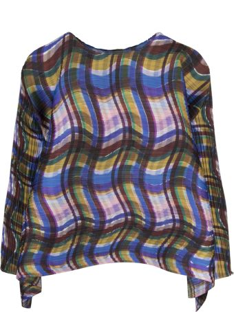 Pleats Please Issey Miyake Pleats Please By Issey Miyake Checked Blouse