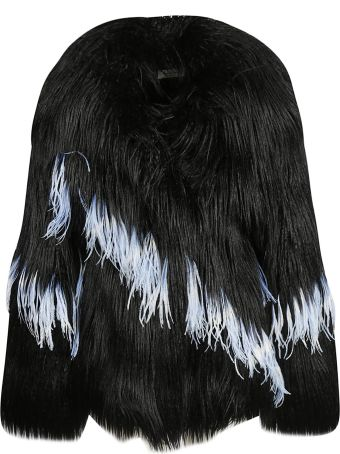 Dries Van Noten Feather Fur Top