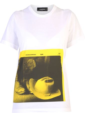 Dsquared2 White Printed T-shirt