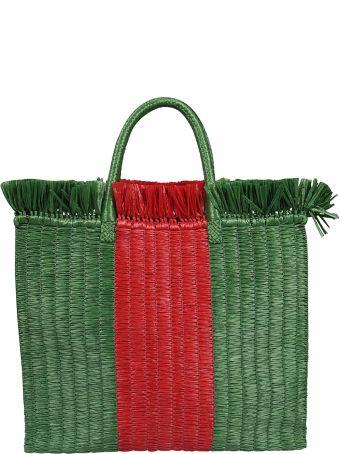 Gucci Straw Shopper Bag