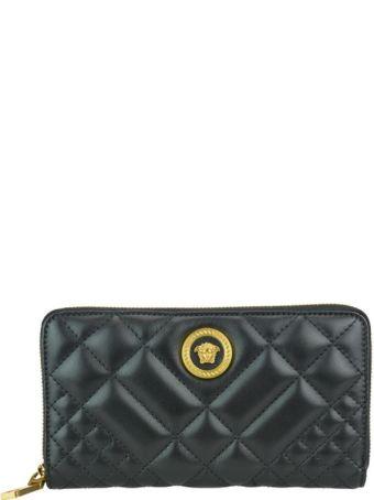 Versace Quilted Zip Wallet