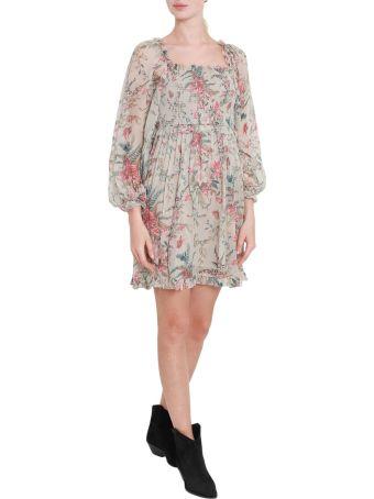 Zimmermann Floral Printed Off-shoulder Short Dress