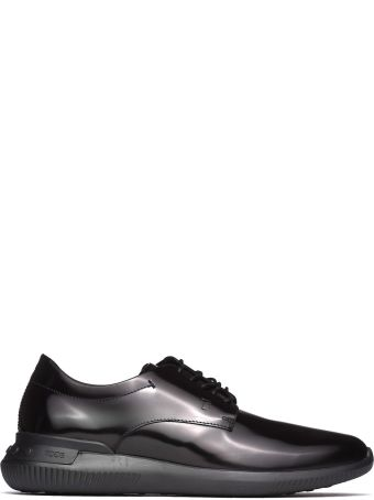 Tod's Lace-up Shoes In Black Smooth Leather