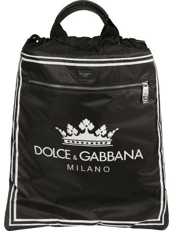 Dolce & Gabbana Drawstring Logo Backpack
