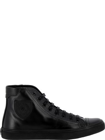 Saint Laurent Black Leather Sneakers