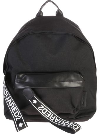 Dsquared2 Leather Inserts And Nylon Backpack