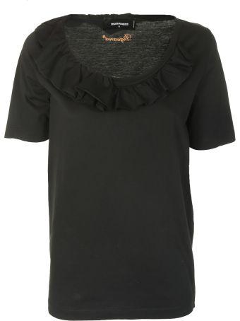Dsquared2 Ruffled Neck T-shirt