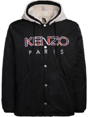 Kenzo Black Jacket With Hood