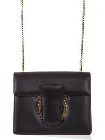 Salvatore Ferragamo Black Thalia Leather Bag