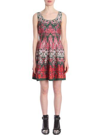 Flowerbed Jacquard Knit Dress