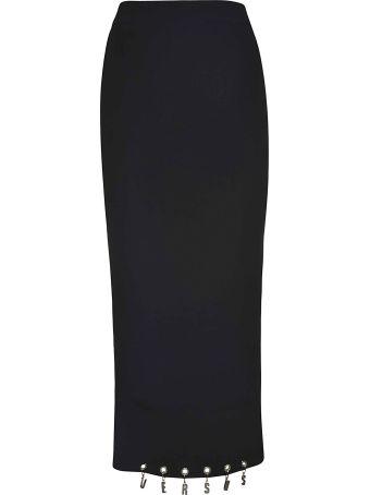 Versus Versace Logo Charm Midi Skirt