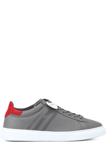 Hogan H365 Elongated H Grey Leather Sneakers