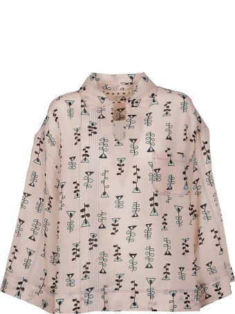 Marni Printed Wide Sleeve Blouse