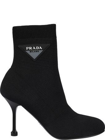 Prada Logo Sock Ankle Boots