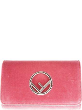 Fendi Pink Fendi  Wallet In Velvet