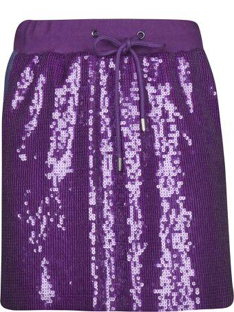 Alberta Ferretti Sequin-coated Mini Skirt
