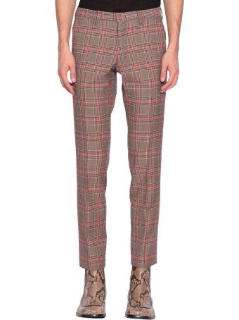 Dries Van Noten Wool Blend Check Trousers