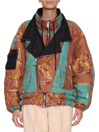 Gucci Printed Silk Down Jacket